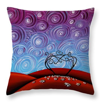 Because You're Mine Throw Pillow by Cindy Thornton