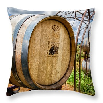 Becker Vineyards Throw Pillow