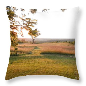 Beckham Church Road Sunset By Angelia Clay Throw Pillow