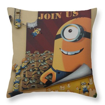 Become A Minion Throw Pillow