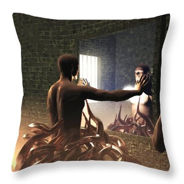 Becoming Disturbed Throw Pillow