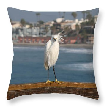 Throw Pillow featuring the photograph Bed Head  by Christy Pooschke