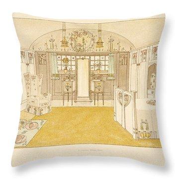 Bedroom, Logan George Throw Pillow