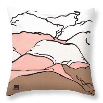 Bedscape Two Am Throw Pillow by Stan  Magnan