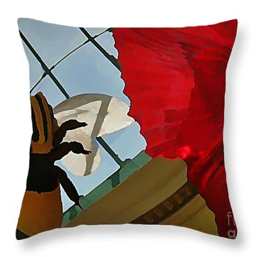 Bee And Flower Throw Pillow by John Malone