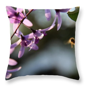 Throw Pillow featuring the photograph Bee Back by Greg Allore