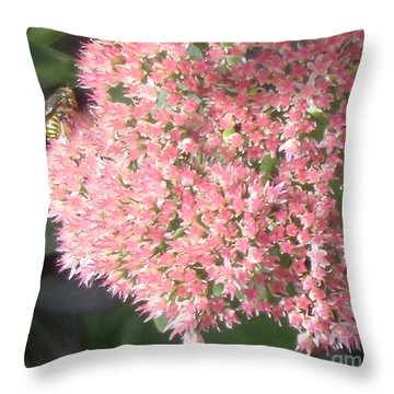 Bee Climbing Throw Pillow
