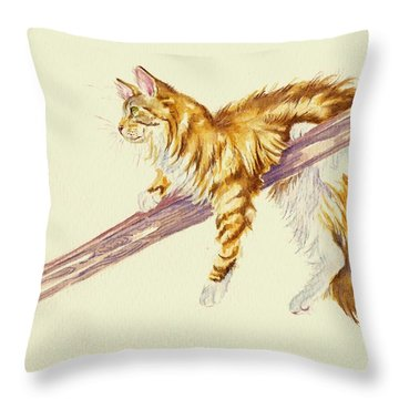 Bee Determined Throw Pillow