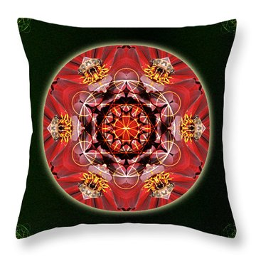 Bee Green Throw Pillow