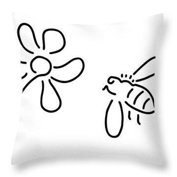 Natures Bees Throw Pillows
