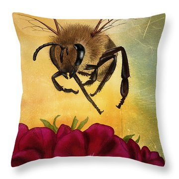 Bee I Throw Pillow