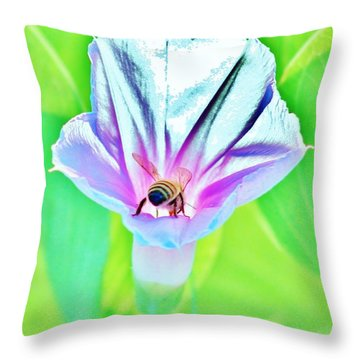 Bee In Pastel Throw Pillow