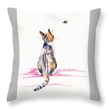 Bee-mused Throw Pillow