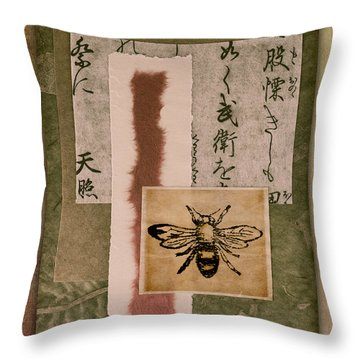 Bee Papers Throw Pillow