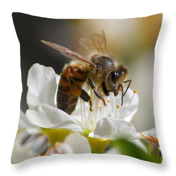 Bee4honey Throw Pillow