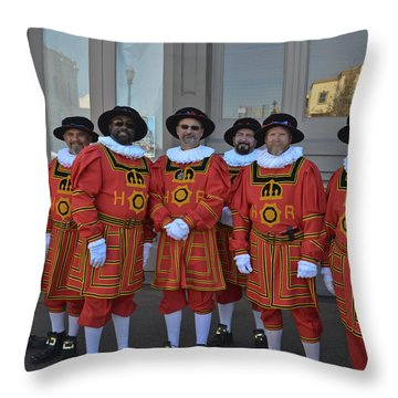 Beefeaters Throw Pillow