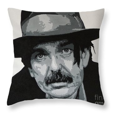 Beefheart Throw Pillow by ID Goodall