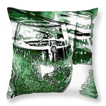 Beer - A Different Shade Of Green Throw Pillow by Pamela Blizzard