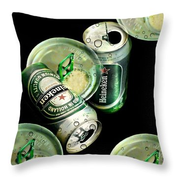 Beer Here Throw Pillow