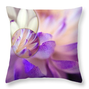 Throw Pillow featuring the photograph Bee's Eye View by Susan Maxwell Schmidt