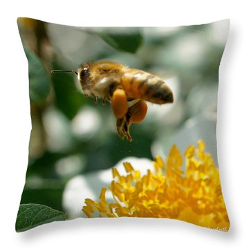 Bee's Feet Squared Throw Pillow by TK Goforth