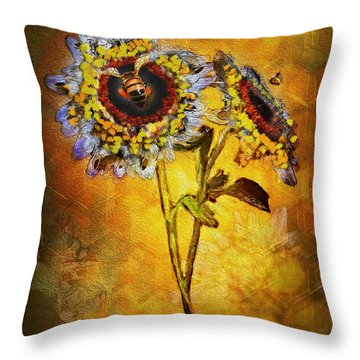 Bees To Honey Throw Pillow