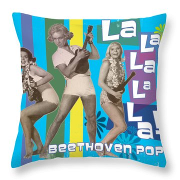 Beethoven Pop Throw Pillow