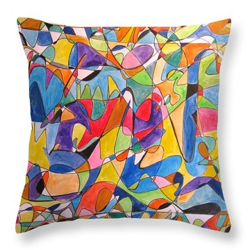 Beethoven's Symphony Number Five Throw Pillow by Esther Newman-Cohen