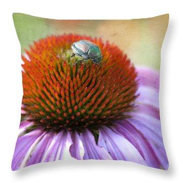 Beetle Bug Throw Pillow