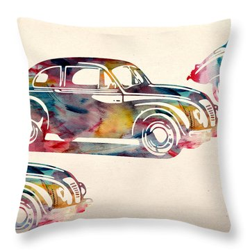 Beetle Car Throw Pillow by Mark Ashkenazi