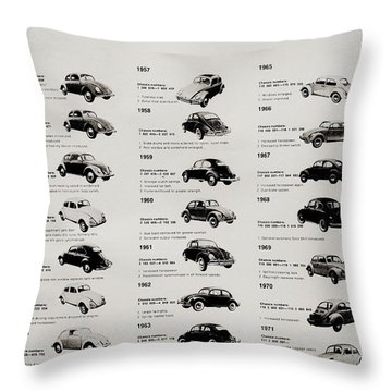 Throw Pillow featuring the photograph Beetle Evolution by Benjamin Yeager