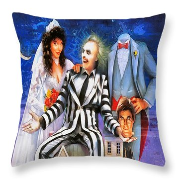 Beetlejuice Throw Pillow by Joe Misrasi