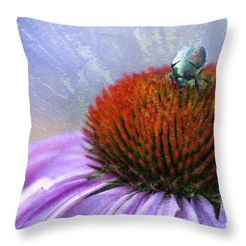 Beetlemania Throw Pillow