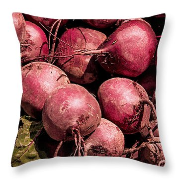 Beets - Earthy Wonders Throw Pillow
