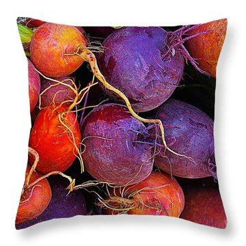 Throw Pillow featuring the photograph Beets Me  by John S