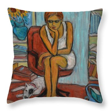 Before Exams Throw Pillow by Xueling Zou