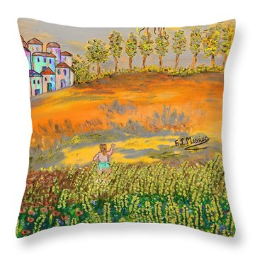 Before Going Home Throw Pillow by Loredana Messina