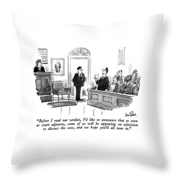Before I Read Our Verdict Throw Pillow
