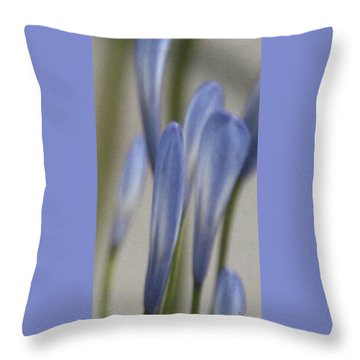Before - Lily Of The Nile Throw Pillow by Ben and Raisa Gertsberg