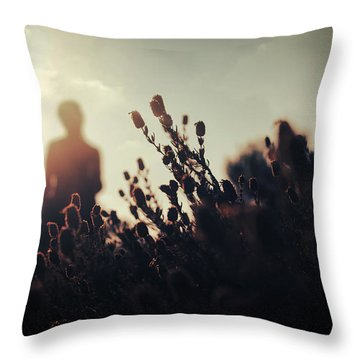 Before Love II Throw Pillow by Taylan Apukovska