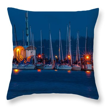 Before Night Fall Throw Pillow