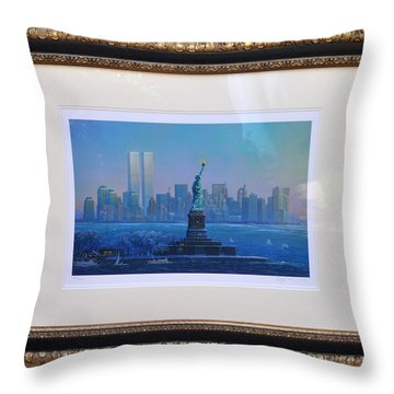 Before Nine Eleven Throw Pillow by Jay Milo