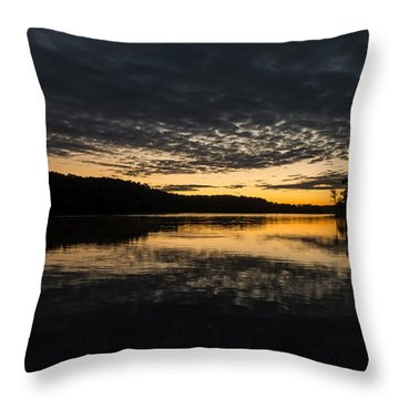 Before Sunrise At The Lake Throw Pillow