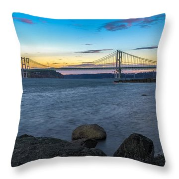 Throw Pillow featuring the photograph Before Sunrise At The Narrows by Ken Stanback