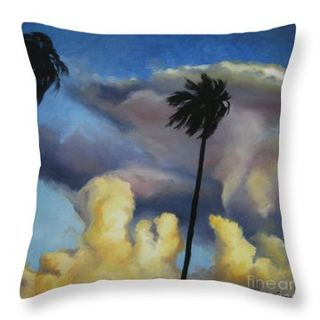 Before Sunset Throw Pillow by Jindra Noewi