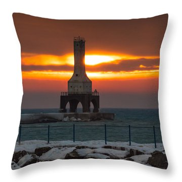 Before The Blizzard Throw Pillow by James  Meyer