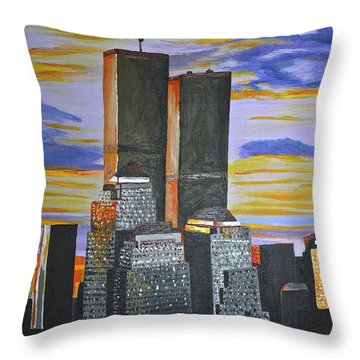 Before The Fall Throw Pillow by Donna Blossom