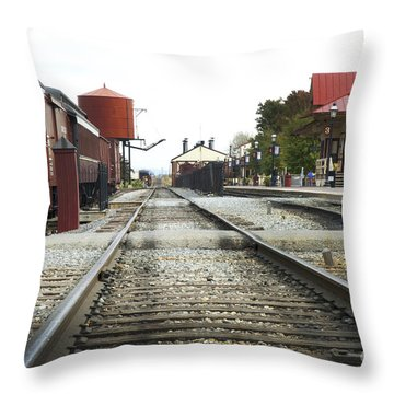 Before The First Passengers Throw Pillow