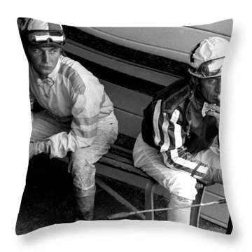Before The Race Throw Pillow