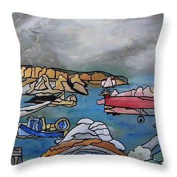 Before The Storm Throw Pillow by Barbara St Jean